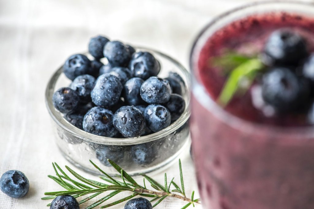 Blueberries are said to have a detox effect. Skincare products can help with the detox for your skin.
